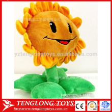 Felpa girasol sonrisa cara sol flor juguete para niña