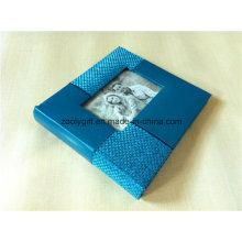 Álbum de fotos de couro PU de qualidade personalizada