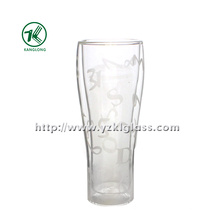 Ice Double Wall Glass Bottle (6.5*5.5*17.5 295ml)
