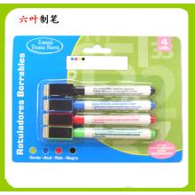 Stylo-marquage 4PCS Mini tableau blanc avec Bush et stylo magnétique, Erase sèche