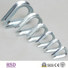 Fasteners Galvanized U. S. Type Heavy Wire Rope G414 Cable Thimble