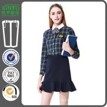 2016 100% coton uniforme uniforme personnalisé en flanelle Plaid Shirt
