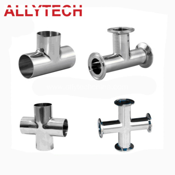 Stainless Steel Tee Dairy Processing Pipe Fitting