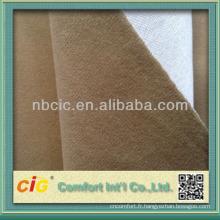 Velours de polyester brossé collage de tissu pour le Sofa et Auto & voiture