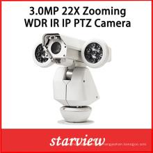 3.0MP 22X Zooming HD Red IP WDR IR Cámara PTZ