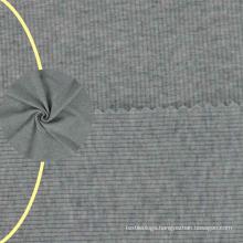 High quality 1X1 rib cotton 2x2 stretch plain cotton rib knit fabric