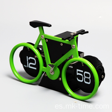 12 am / pm bicicleta mini reloj de mesa plegable