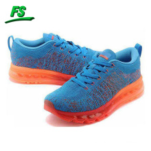 2015 woven upper sport shoes with airbag outsole