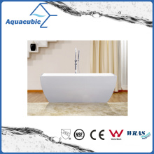 Bathroom Square Acrylic Free-Standing Bathtub (AB1515W)