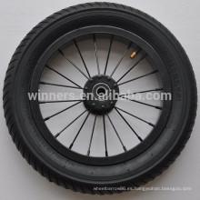 Ruedas de bicicleta de aluminio de 12x1.95 con borde de acero y ancho