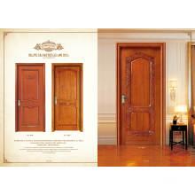 Porta de madeira sólida esculpida em madeira exterior