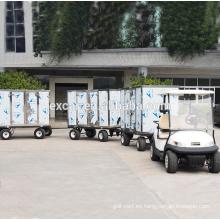 Voltaje de la batería 48V y certificación CE precios carrito de golf tralier eléctrico