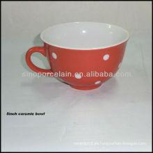 Cuenco de cerámica de 5 pulgadas con ilustraciones de puntos para BS12007