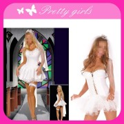 Sexy Bride White Costume of Fashion Ball Dress