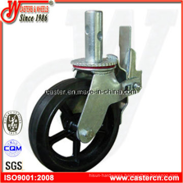8 Inch Rubber on Cast Iron Scaffold Caster