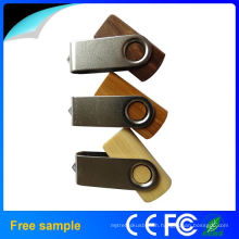 2015 Top Selling Swivel Wooden USB Flash Drive with 8GB