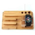 Multifuctional Holz Uhr Stift Handyhalter