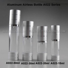 20ml 30ml 50ml Alu. Airless Pump Bottle with Silver Base