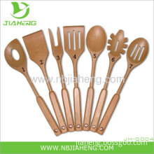 Heavyweight Beech Wood Wooden Cooking Spoon 12 Inch Made In China