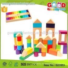 12 formas de madera jardín de infancia de juguete de construcción 60pcs Kid Blocks