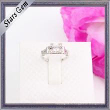 Романтические изящные блестящие серебряные ювелирные изделия из серебра