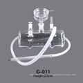 Big Size Clear Glass Material Lavoo Glass Hookah