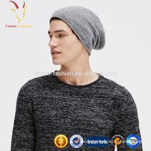 Chapéu Merino de lã tricotada de inverno Beanie para homem