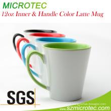 12oz Inner & Handle Color Latte Mug, Grade a, Mt-Lm012h SGS&FDA Approved