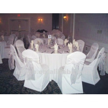 spandex chair cover with organza sash for wedding and banquet