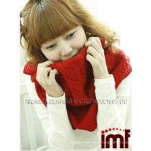 Red Fashion Elegant Cashmere and Wool Jersey Scarf