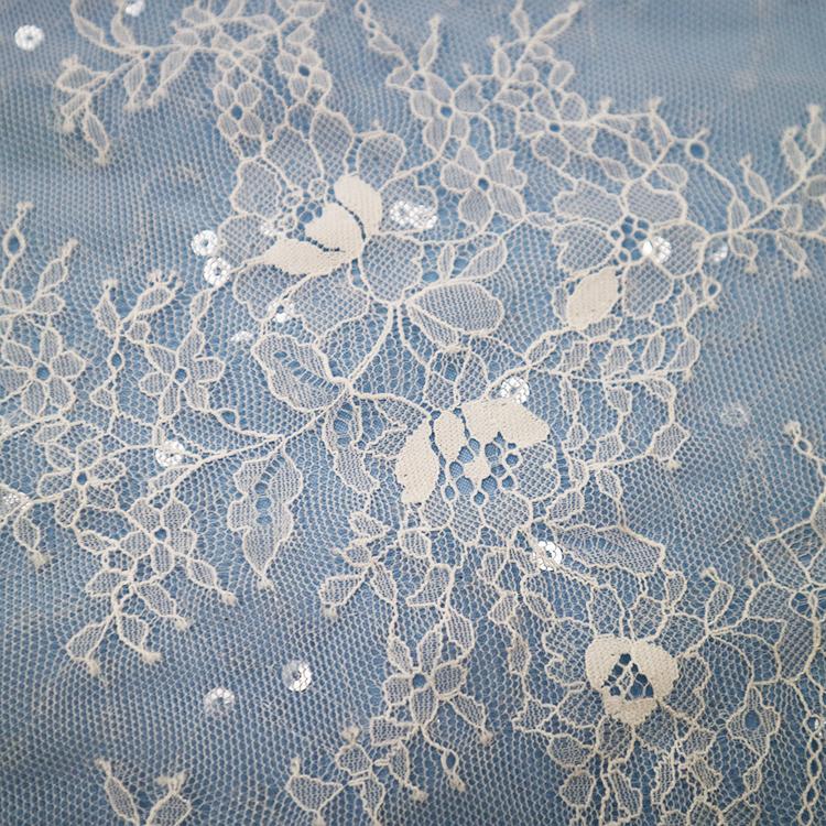 French eyelash lace 9077S