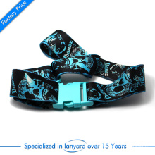 Custom Polyester Woven Neck Lanyard Belt with Plastic Safety Clasp