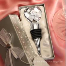 Modische Hochzeitsgeschenk Crystal Heart-Shaped Flasche Wein Stopfen