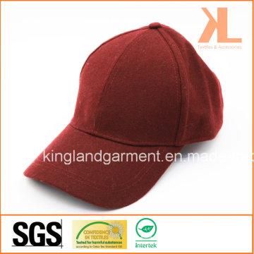Полиэстер и качество шерсти Теплая красная / бургундская бейсбольная кепка