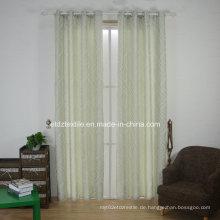 Klassisches Jacquardgarn gefärbt und Stück gefärbter Fenstervorhang