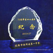 Gravure Gratuite - Médaille de Cristal d'Iceberg et Trophée du Verre