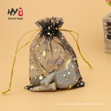 Unique organza chiffon pouches transparent gift bags