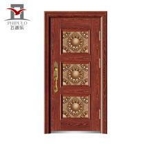 Puerta principal de la puerta principal de acero puerta de seguridad diseño de la puerta