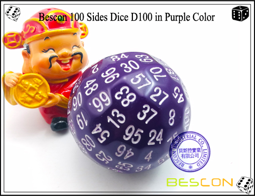 Bescon 100 Sides Dice D100 in Purple Color-1