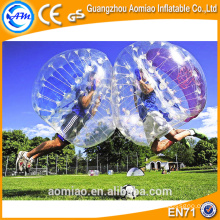 Outdoor/Indoor inflatable body bounce sport ball soccer bubble bumper ball rent