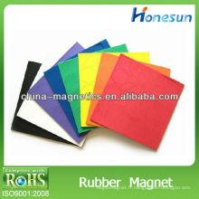 feuille magnétique de caoutchouc A4 coloré