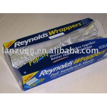 hoja de papel de aluminio