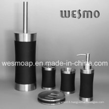 Rubber Oil Coating Stainless Steel Bathroom Set (WBS0509B)