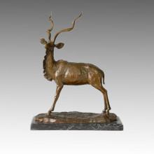 Statue des animaux Gazelle / Antelope Bronze Sculpture Tpal-128