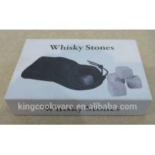 pedra de uísque com material de pedra de lava / pedra de uísque refrescante / pedra de gelo