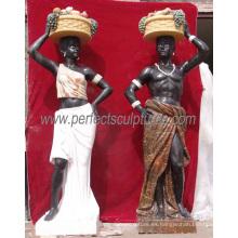 Escultura de la estatua del mármol de la piedra del tamaño de la vida en color multi (SY-C1065)