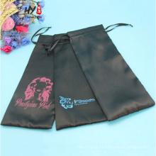 Buena venta de logotipo personalizado impresión bolsa de satén de la joyería