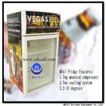 commercial display vertical promotion min bar fridge