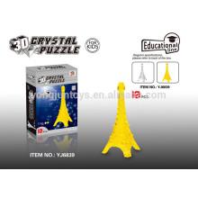 IQ desarrollo educativo rompecabezas de cristal 3D Torre Eiffel 10PCS