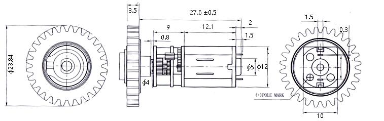 6V Lock Gear Motor